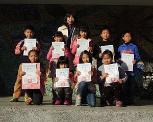 103學年度訓導處藝文競賽三年級得獎頒獎照片